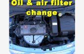 Öl, Ölfilter und Luftfilter auf einem Citroen C3 2006-2008 ändern