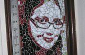 Ein farbiges Glas Mosaik Portrait aus einem Foto zu machen.