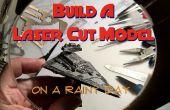Aufbau eines Lasers Schneiden Modell an einem regnerischen Tag