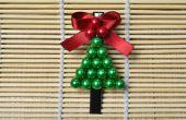 DIY-Weihnachtsbaum Haarspange
