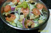 Olive Garden Salat und Dressing Rezept gehackt