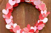 Vergoldete Herzen Valentine Kranz