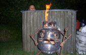 Wie man eine Holz bauen feuerte Whirlpool