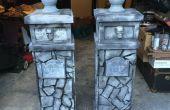 Gargoyle Eingang Säulen aus Stein