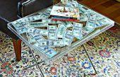 Lucite Geld Tisch