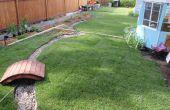 Wiederherstellen einen Hinterhof mit Toten Boden (vor und nach)