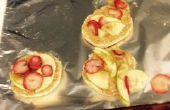 Apfel-Muffins Erdnussbutter