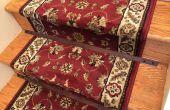 Hölzerne Treppe Stangen für einen Teppich Läufer