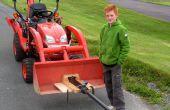 Schnelle Betankung Kartoffel-Kanone montiert auf Kubota Traktor