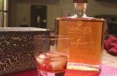 Glas Gravur | Laser gravierte Whisky-Flasche