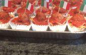 Spaghetti und Fleischbällchen Cupcakes