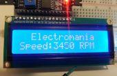 Fan-u/min mit internen Hallsensor und Arduino (Intro, Hardware zu unterbrechen und LCD-Anzeige)