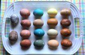 Natürlicher Farbstoff Ostereier