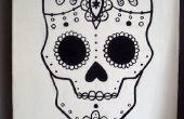 Grafischen Sugar Skull Malerei