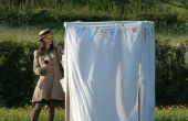 IKEA Hack: Hochzeit Fotokabine aus Canvas Kleiderschränken