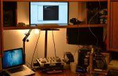 Einstellbare Höhe Monitor für Stand Up Schreibtisch mit Film Vergrößerer Hals