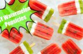 DIY Sommer Wassermelone Eis am Stiel