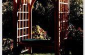 Wie ein Garten Spalier mit Sitzbank bauen