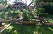 Einen erhöhten Garten in einen Hang zu errichten.