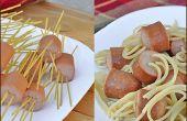 Spaghetti und Fleischbällchen ohne die Frikadellen