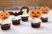 Halloween Kürbis Schokolade Cupcake Topper