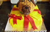 Hund im vorliegenden Kuchen