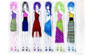 Up-Zyklus t-Shirts, schickes ein-geschultert Kleid (Muster für alle Größen enthalten)
