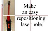 Machen eine einfache Neupositionierung Laser-Pol