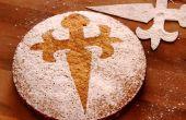 Mandel-Kuchen - Rezept Tarta de Santiago