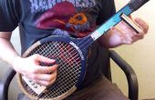Verwandeln Sie einen Tennisschläger in einer 3-saitige Gitarre