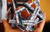 Doppelte Makalu - Origami-Scupture: 12 gewebte Fünfecken (kein Leim)