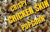 Knusprige Hähnchen Haut Popcorn