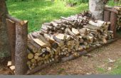 Rustikale Holz Rack