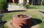 $50 Feuerstelle mit konkreten Jahrringe