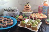 Partytisch und Haus Deko-Idee: Halloween-Party
