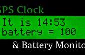 Super-genaue GPS-Uhr & Batteriemonitor
