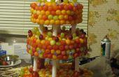 Frische Frucht drei Tier Hochzeitstorte