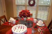 Lastminute Weihnachten Frühstückstisch & rot Dekor