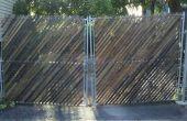 Bildschirm eine Kette Link Zaun mit Putzträger