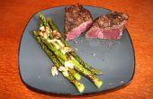 Wie erstelle ich ein Steak-Dinner mit einem Propan-Brenner