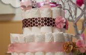 Baby-Dusche Windel Kuchen Tutorial