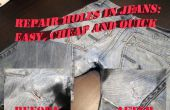 Löcher in Jeans: einfache und billige Lösung