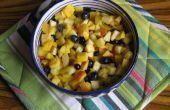 Pakistanische Obst Chaat (Salat) mit Chaat Masala (Rezept enthalten)
