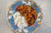 Vegane Dutch Oven Süßkartoffel und Linsen-Curry