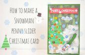 Wie erstelle ich eine Weihnachtskarte Schneemann Penny Schieberegler