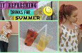 DIY erfrischende Getränke für Sommer
