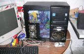 Zombie-PC Casemod montiert zurück von den Toten PC mit platzsparenden Seite Laufwerke.