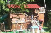 Piratenschiff Spielhaus / Baumhaus / Fort / Schaukel / Ärger mit Frau