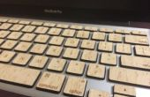 Holztasten Macbook (mit Hintergrundbeleuchtung Funktionalität)