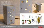 Hausgemachte moderne DIY konkrete Lampe